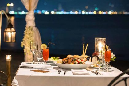 beachfront romantic dinner, dining in phuket