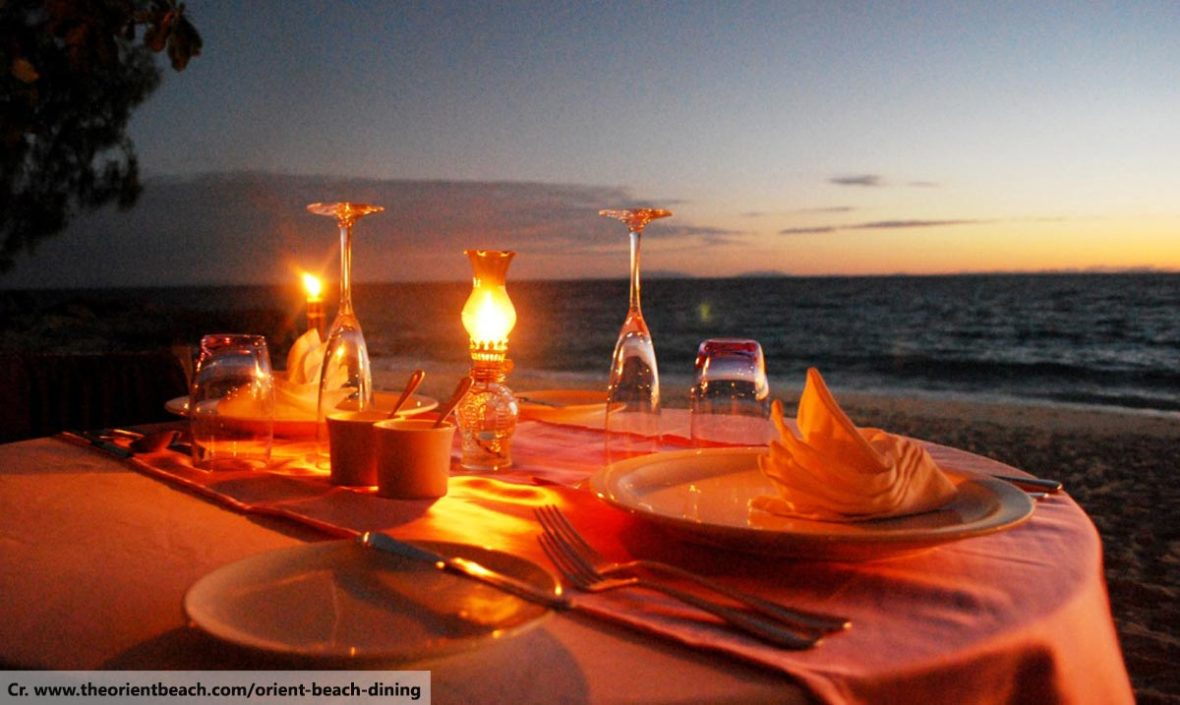 romantic beach dinner, dining in phuket